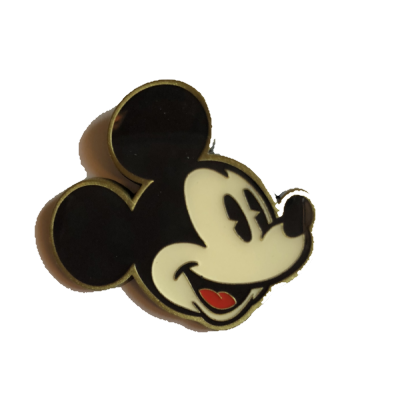 Disney Pin MICKEY OH Classic GREEN Pie-Eyed SMILING