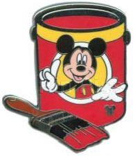 WDW 2012 Hidden Mickey Paint Can Collection Mickey Mouse Disney Pin 88659